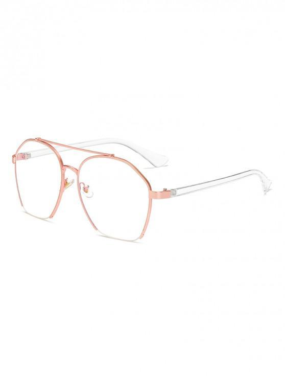 latest Metal Irregular Frame Polarized Sunglasses - SILK WHITE