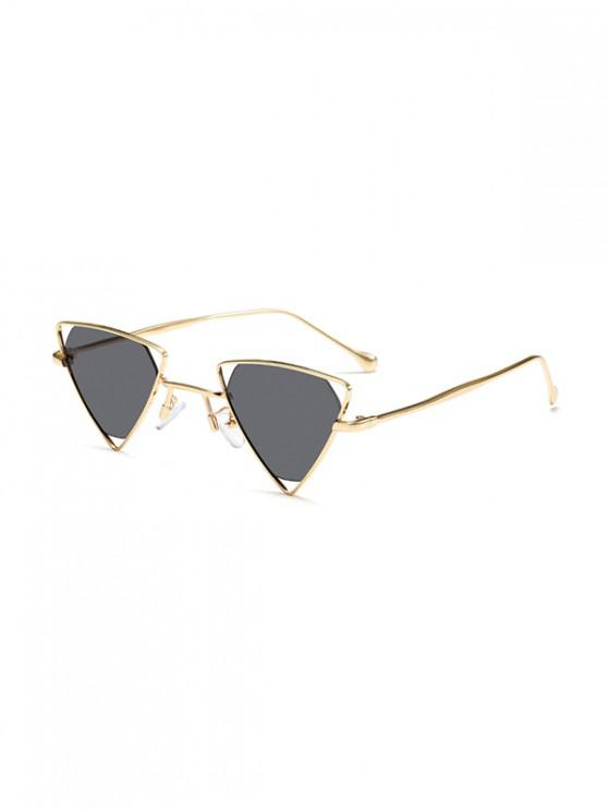 new Metal Hollow Triangle Sunglasses - DARK SLATE GREY
