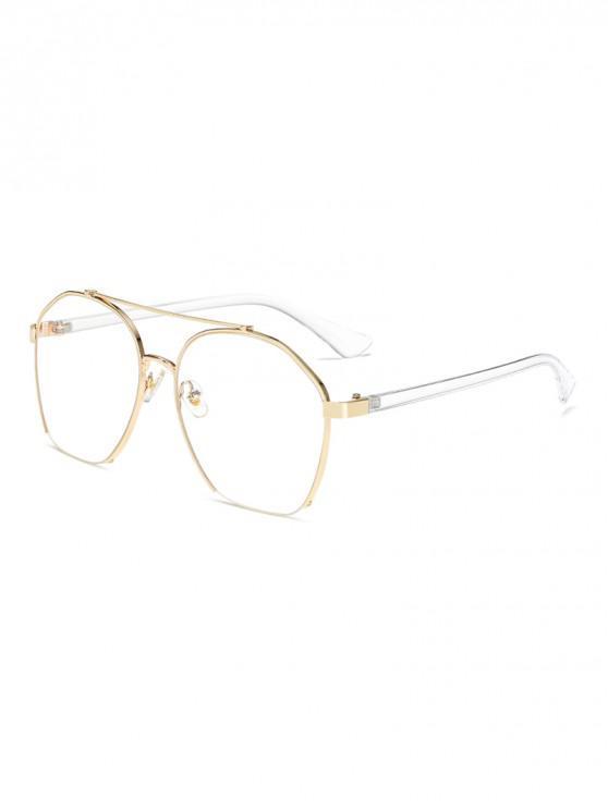 fancy Metal Irregular Frame Polarized Sunglasses - NATURAL WHITE