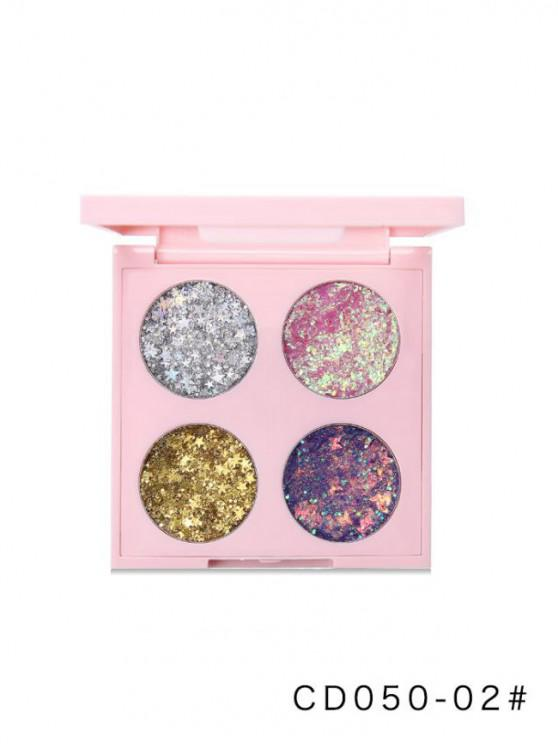 best Four Colors Glitter Star Eyeshadow Compact - MULTI-B