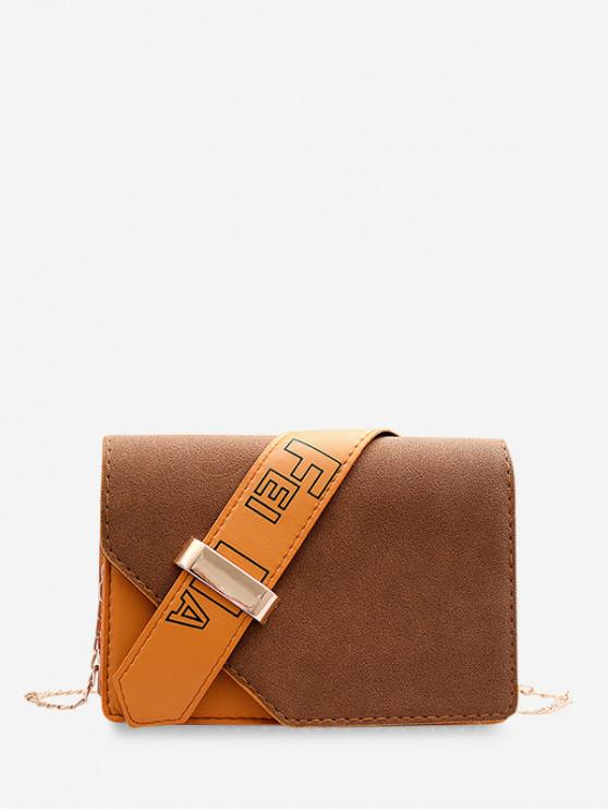 hot Christmas Square Shoulder Bag - SANDY BROWN