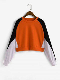 Sweat-shirt En Blocs De Couleurs à Manches Raglan - Multi-a S