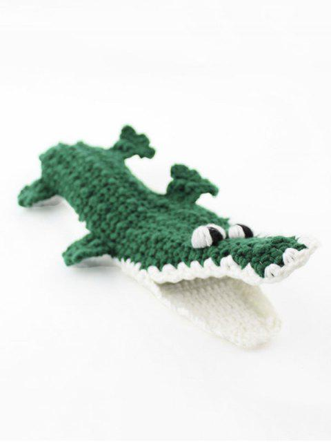 fashion Christmas Animal Crochet Home Floor Socks - MEDIUM SEA GREEN  Mobile