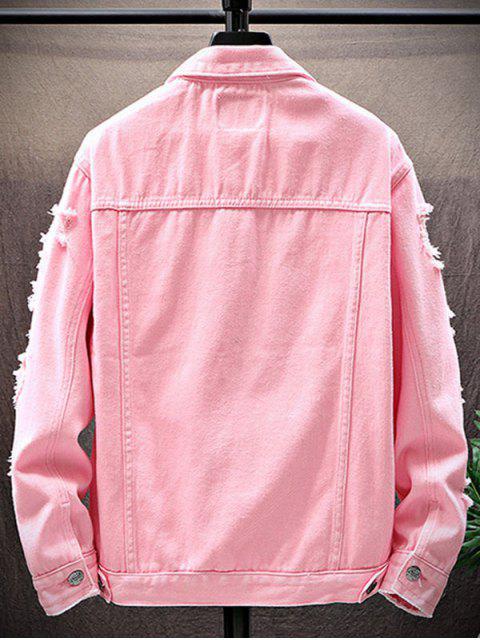 Veste Déchirée avec Poche - Rose  M Mobile