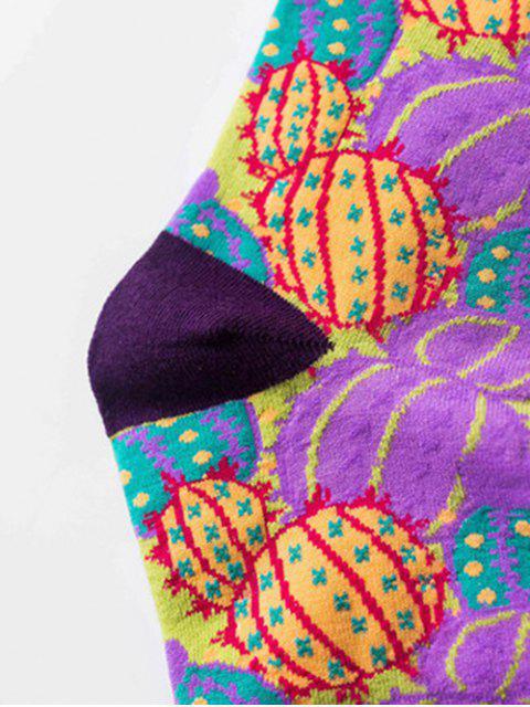 trendy Hip-hop Street Crew Length Socks - PURPLE  Mobile