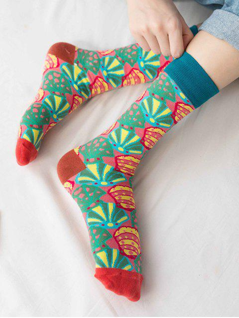 outfit Hip-hop Street Crew Length Socks - GREEN  Mobile