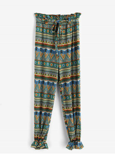 buy Printed Belted Beach Jogger Pants - MULTI-A 3XL Mobile