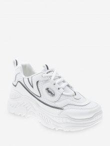 منصة عالية للتنفس في الهواء الطلق حذاء رياضة - أبيض الاتحاد الأوروبي 39