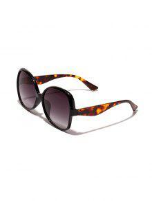 الفراشة المتضخم النظارات الشمسية الشكل - أسود