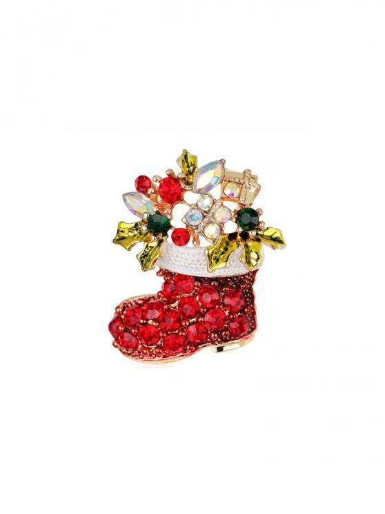 Горный хрусталь Рождественский чулок Брошь - Золотой