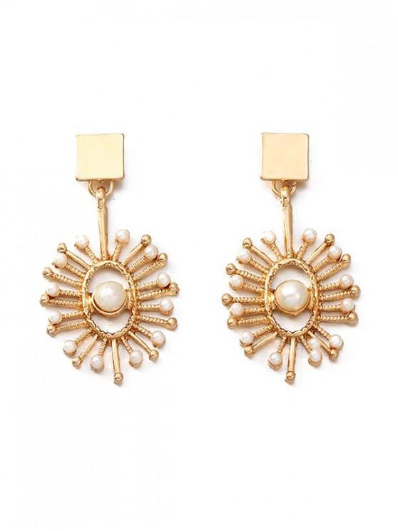 buy Pearl Antique Dangle Stud Earrings - GOLD
