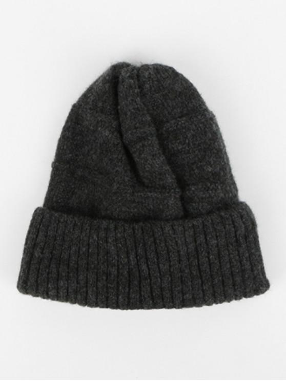 shop Winter Knitted Woolen Yarn Hat - DARK GRAY