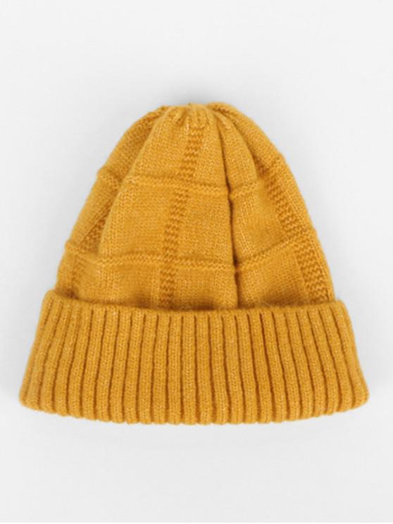 Зимняя Вязаная Шерстяная Шляпа - Жёлтый