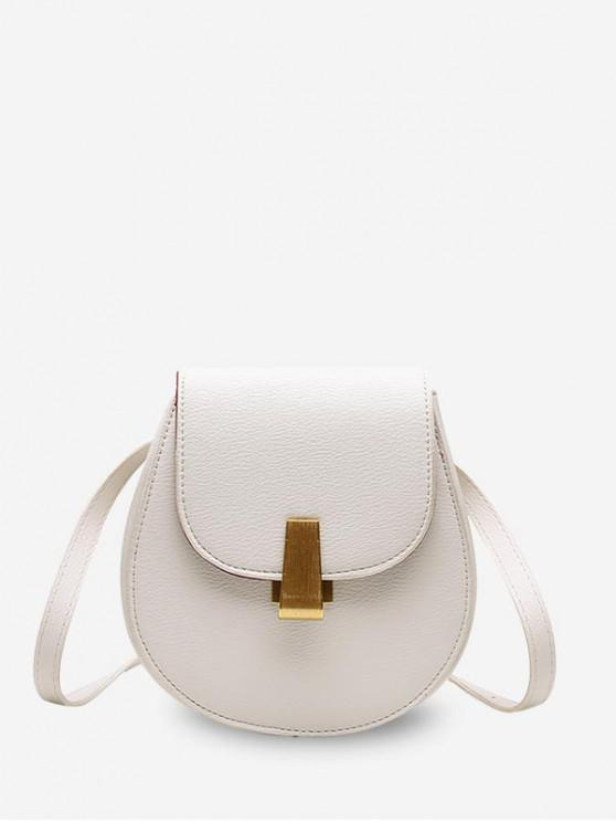 online Solid Shell Shape Shoulder Bag - WHITE