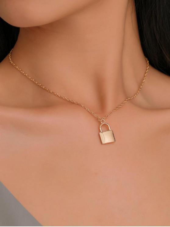 sale Brief Lock Pendant Necklace - GOLD