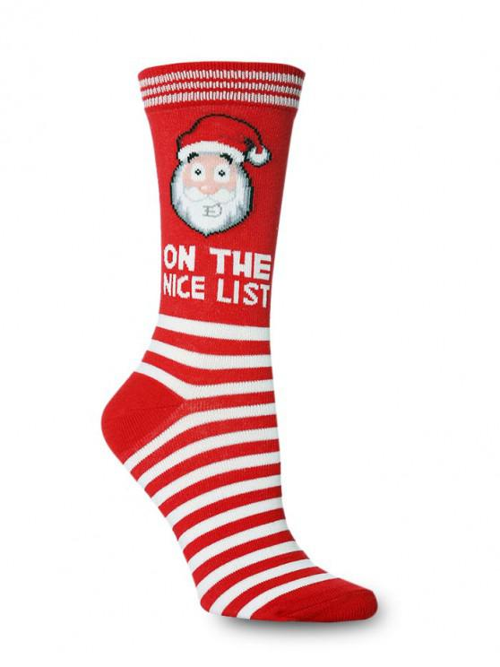 womens Christmas Theme Crew Length Socks - MULTI