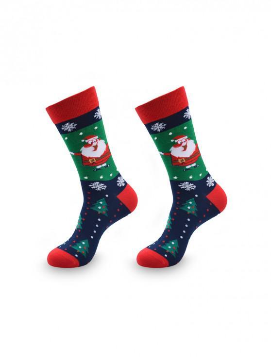 Regalo de Navidad de invierno Calcetines Longitud de la tripulación Imprimir - Multicolor-B
