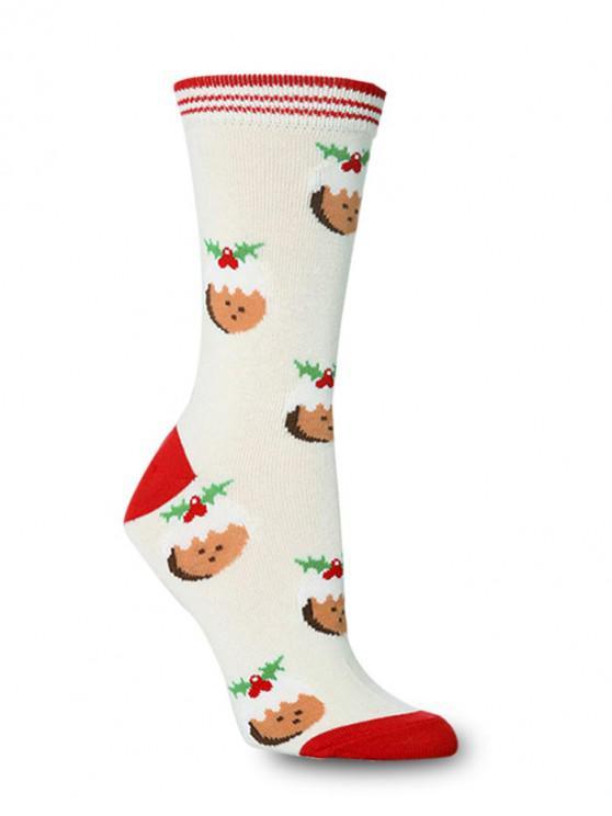Рождественский принт Носки - Многоцветный-Д