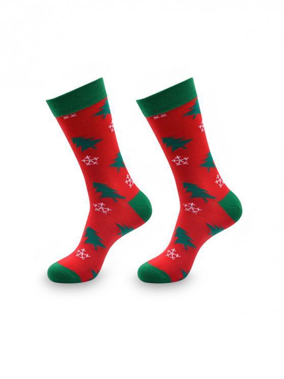 Рождественский принт подарка Зимние Носки - Многоцветный-С