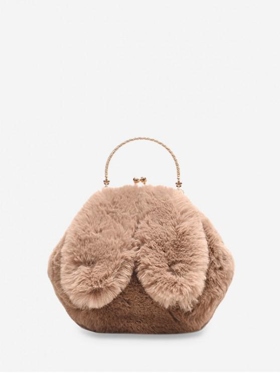 best Cute Rabbit Ear Plush Mini Tote Bag - KHAKI