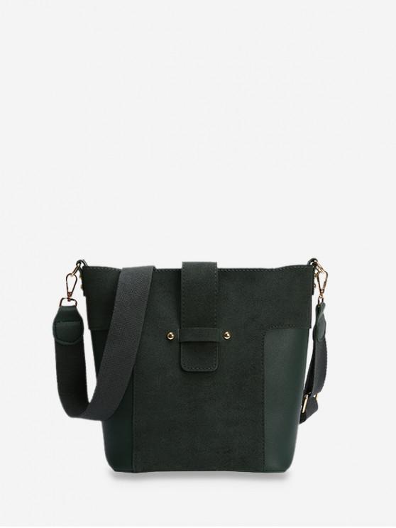 online Bucket Joint Simple Tote Bag - DARK GREEN