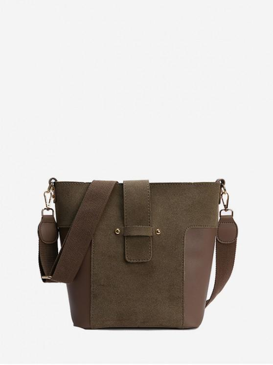 hot Bucket Joint Simple Tote Bag - DARK KHAKI