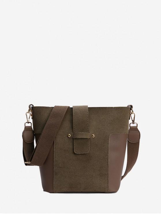دلو حقيبة بسيطة المشتركة - الظلام الكاكي