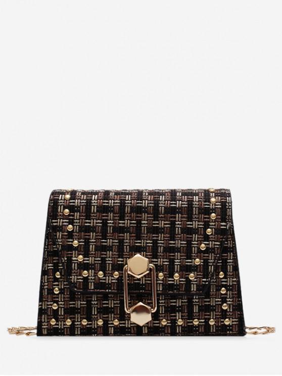 buy Antique Plaid Shoulder Bag - BLACK
