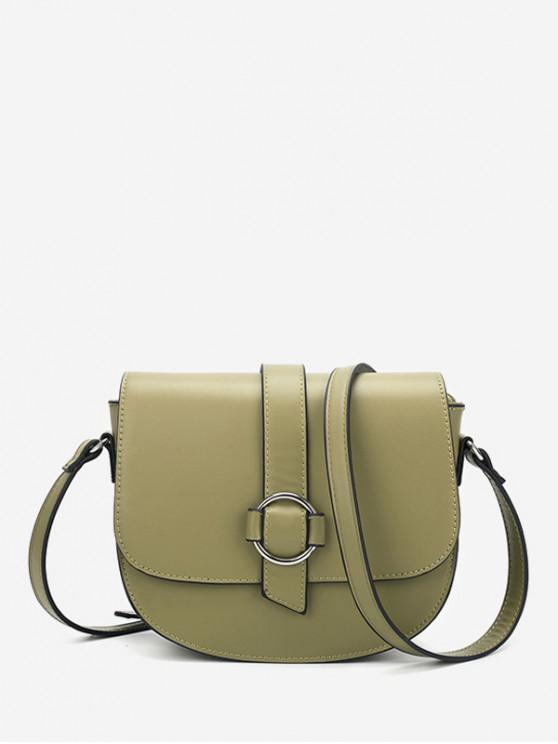 affordable Crossbody Solid Cover Simple Shoulder Bag - GREEN ONION