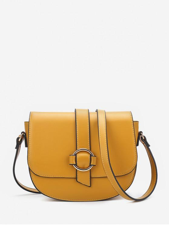 outfits Crossbody Solid Cover Simple Shoulder Bag - YELLOW