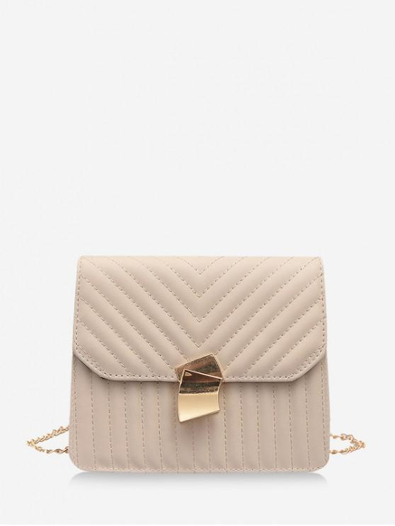 shops Crossbody Leather Shoulder Bag - WARM WHITE