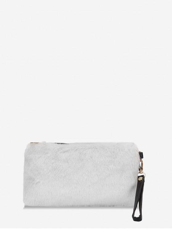 Einfache Kunstpelz-Handgelenk-Unterarmtasche - Milchweiß