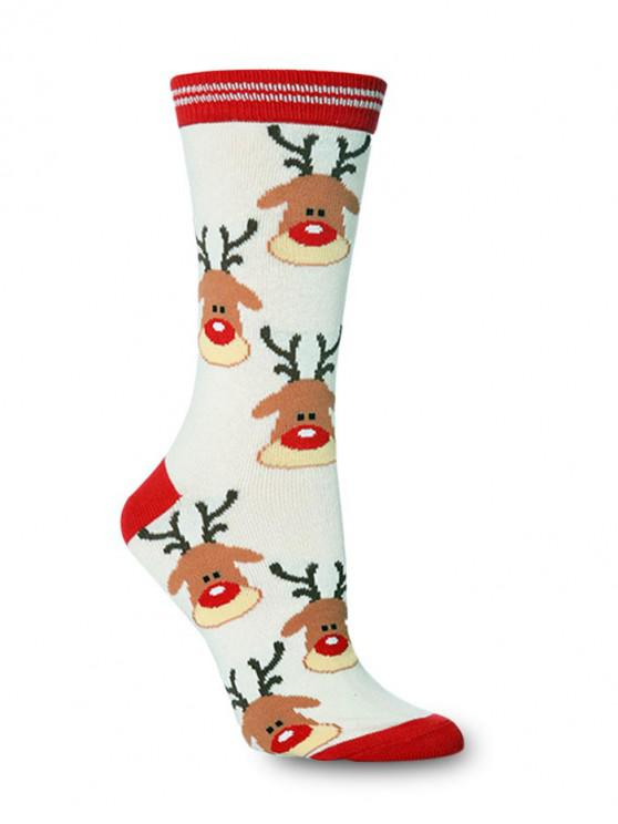 outfit Christmas Theme Crew Length Socks - MULTI-A