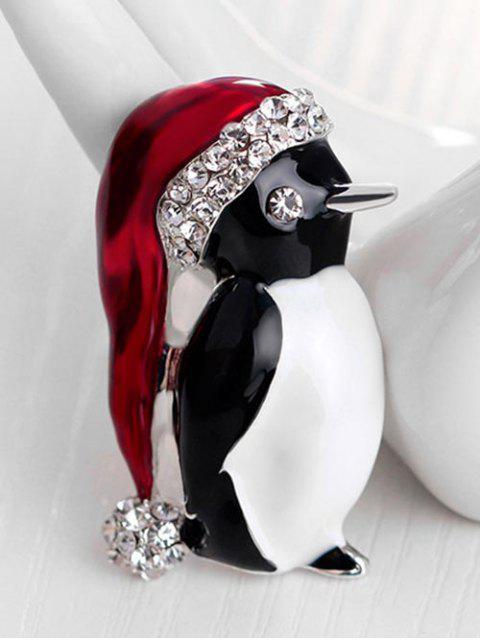 Рождественский дед мороза Пингвин Горный хрусталь Брошь - Серебряный  Mobile