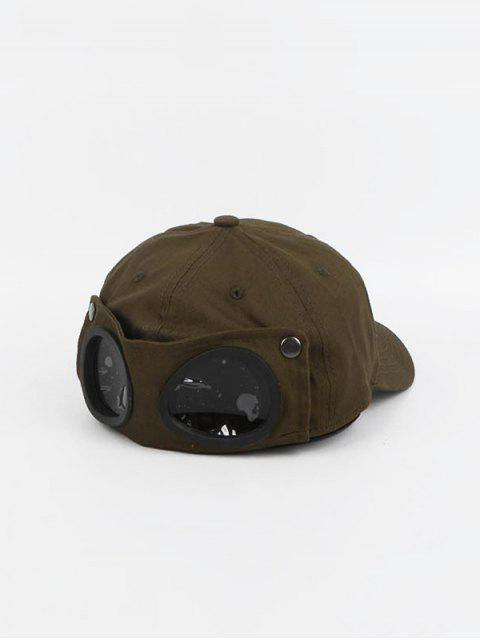 buy Pilot Peaked Glasses Decorated Hat - ARMY GREEN  Mobile