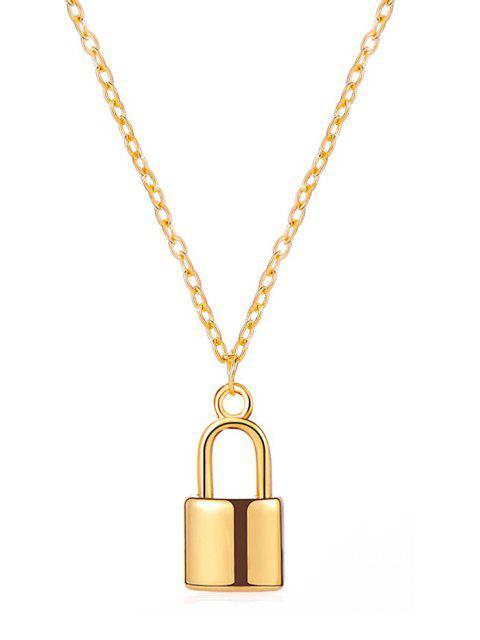 Ожерелье Подвеска замка - Золотой  Mobile