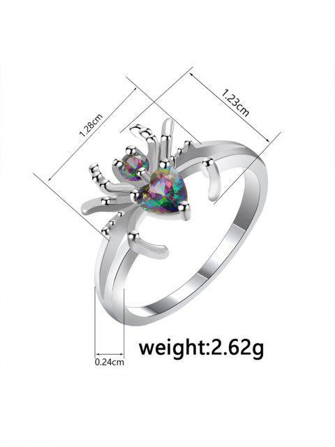 Дизайн паука Циркон Металлическое Кольцо - Серебристый США 9 Mobile