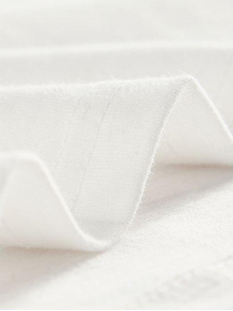 Carta Gráfica de manga larga Camiseta básica - Blanco L Mobile