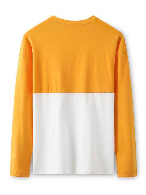 Dos tonos de caracteres amigo de dibujos animados de manga larga camiseta - Caucho Ducky Amarillo M Mobile