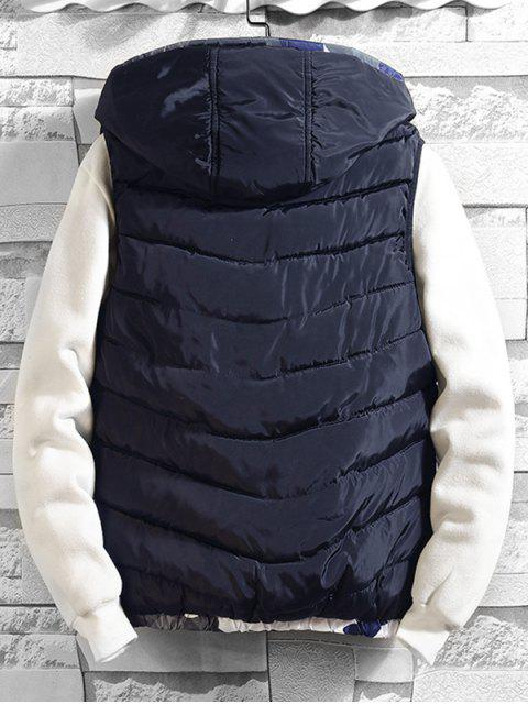 Camuflaje empalmado con capucha Chaleco acolchado - Azul XS Mobile