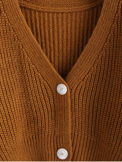 ZAFUL Fallschulter Cardigan mit Knopfleiste - Dunkle Goldrute S Mobile