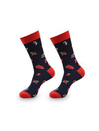 Christmas Gift Print Crew Length Socks #gift