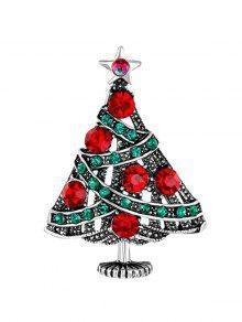 الرجعية شجرة عيد الميلاد كامل حجر الراين بروش - فضة