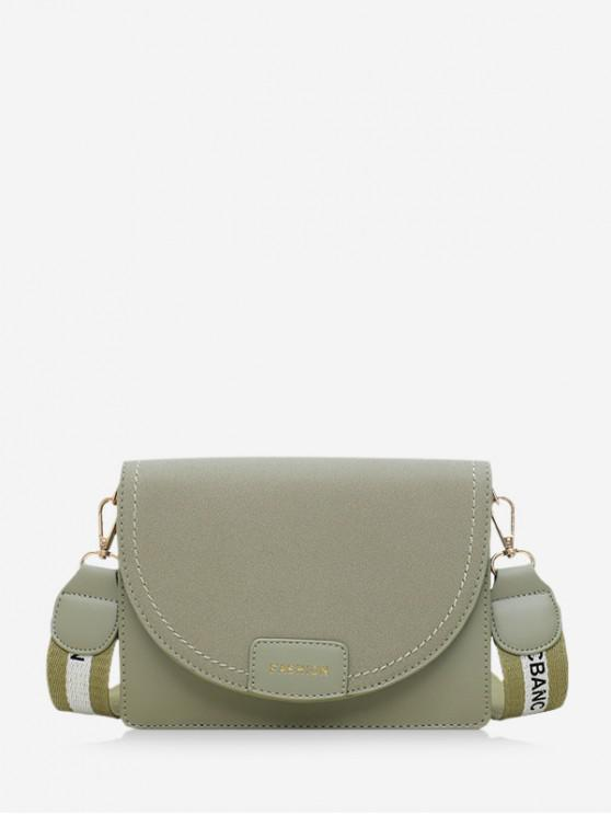 latest Character Belt Square Shoulder Bag - DARK SEA GREEN