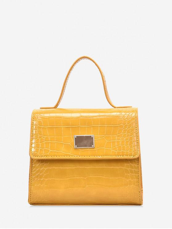 sale Animal Embossed PU Leather Mini Crossbody Bag - YELLOW