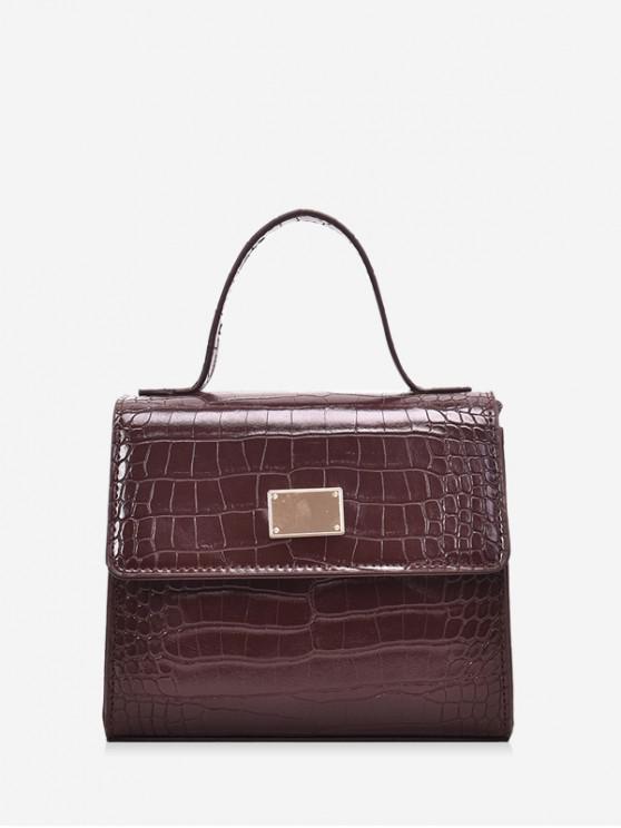buy Animal Embossed PU Leather Mini Crossbody Bag - COFFEE