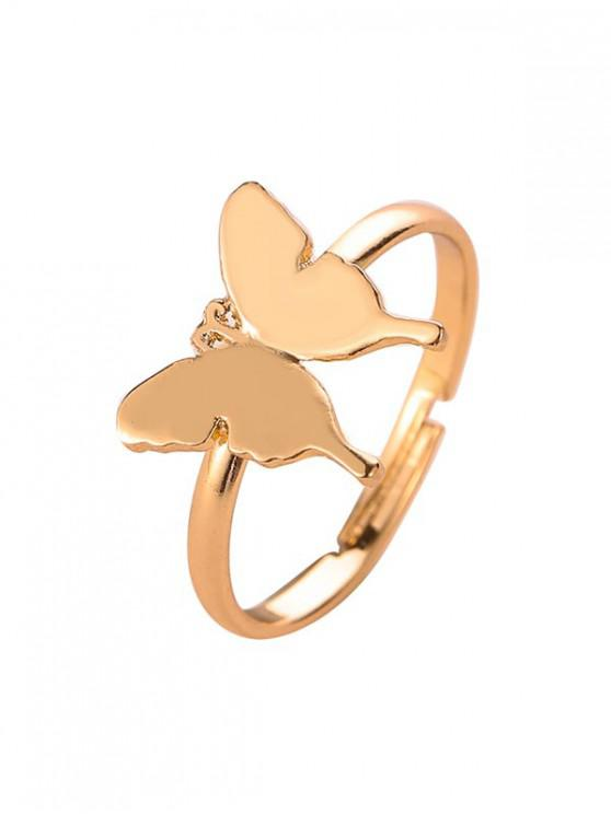 lady Metal Butterfly Open Ring - GOLD