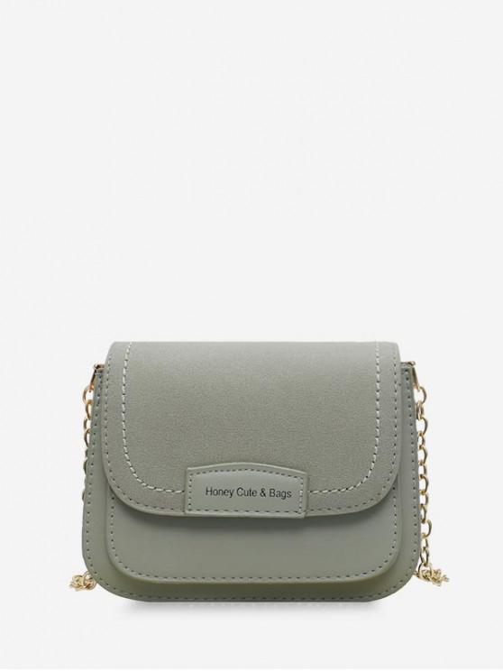 best Solid Chain Simple Shoulder Bag - DARK SEA GREEN
