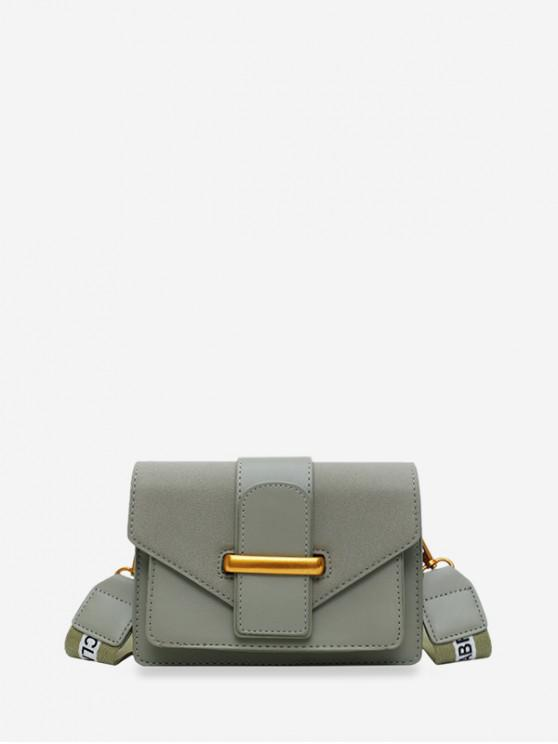 shop Solid Square Crossbody Shoulder Bag - DARK SEA GREEN