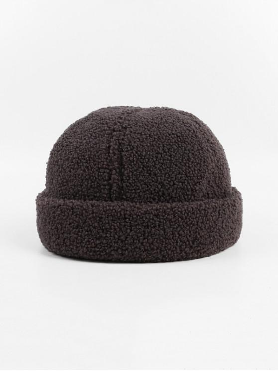Los corderos de lana de invierno sombrero Escutelaria - Gris Oscuro
